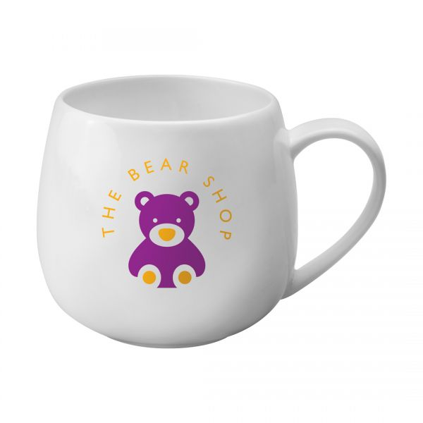 Printed Promotional Bone China Hug Mug
