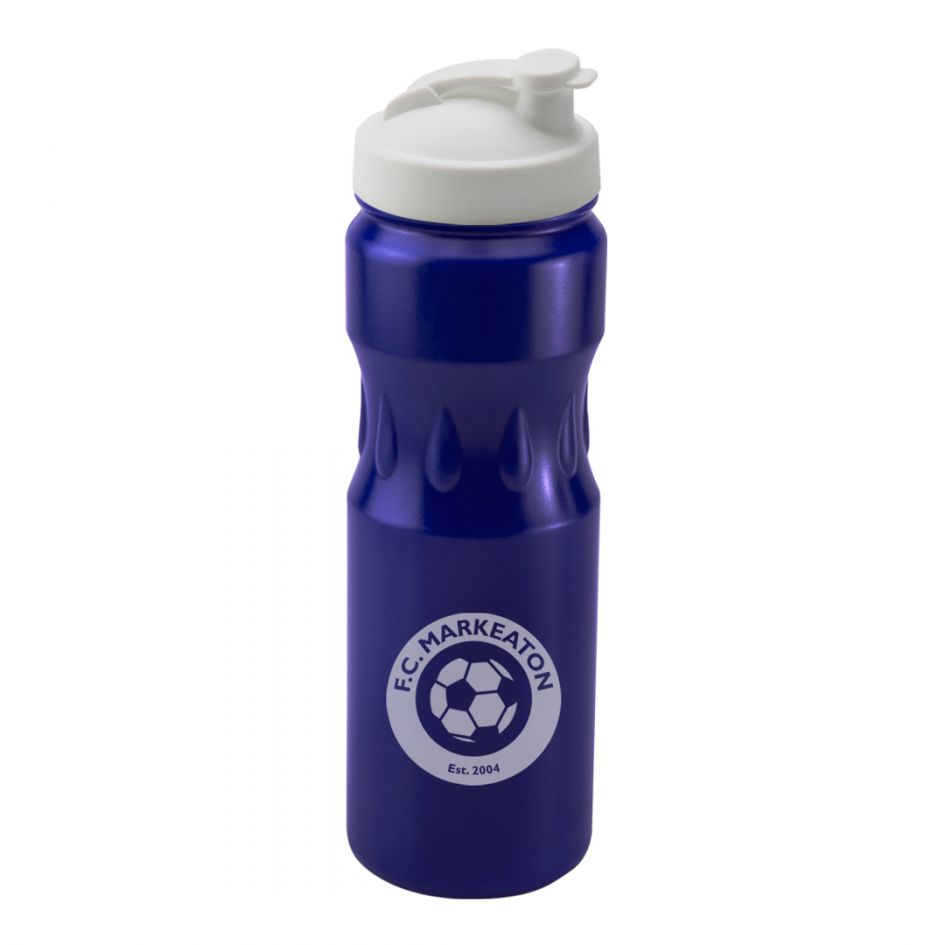 Printed Promotional Blue Teardrop Sports Bottle