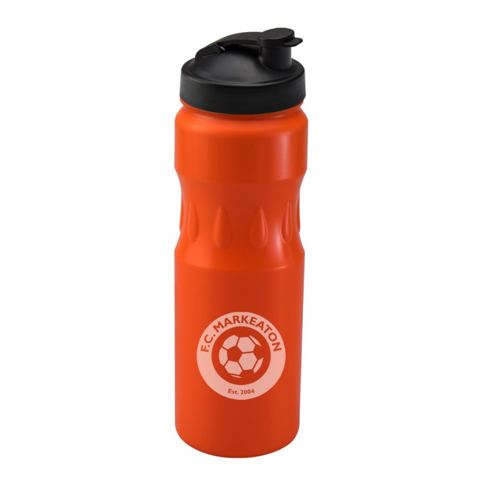 Printed Promotional Orange Teardrop Sports Bottle