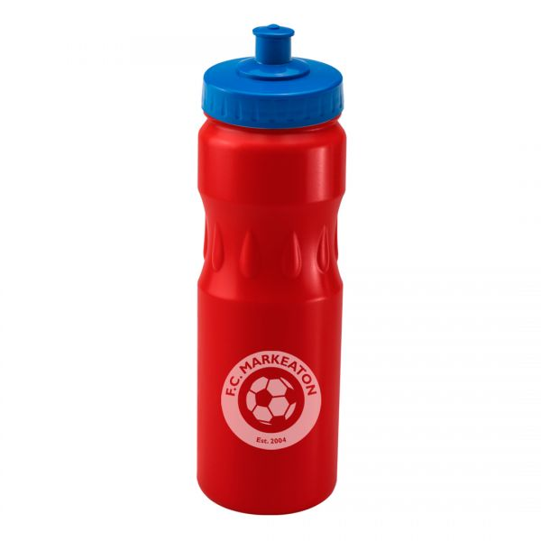Printed Promotional Red Teardrop Sports Bottle