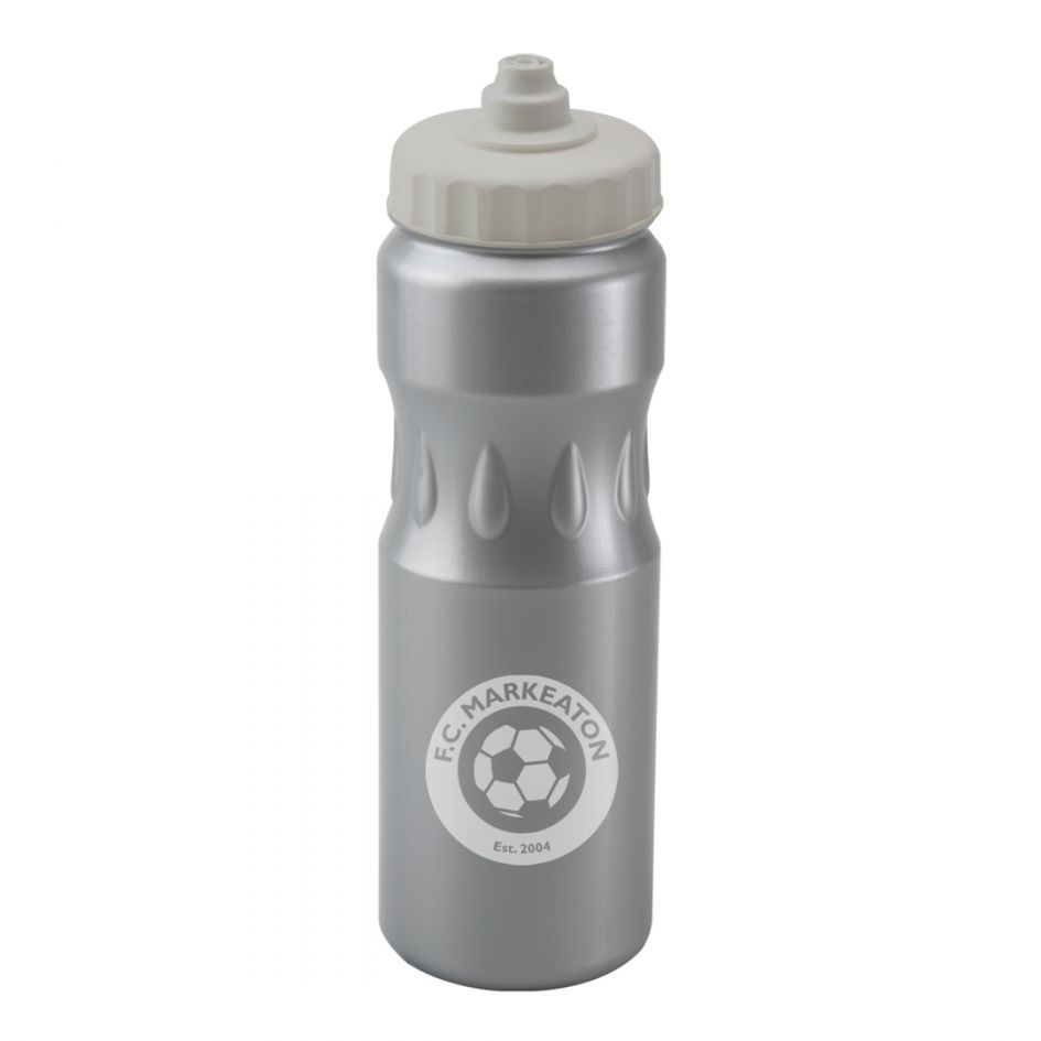 Printed Promotional Silver Teardrop Sports Bottle