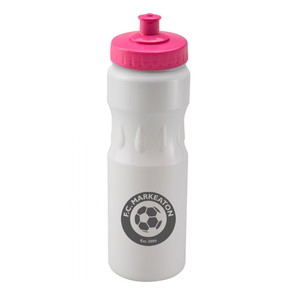 Printed Promotional White Teardrop Sports Bottle