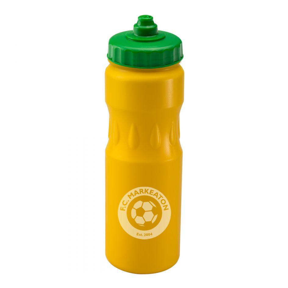 Printed Promotional Yellow Teardrop Sports Bottle