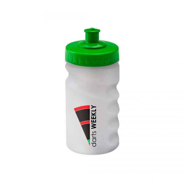 Printed Promotional 300ml Clear Finger Grip Sports Bottle