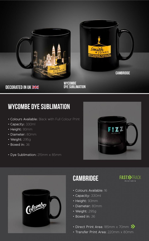 Printed Promotional Black Mugs E-Flyer