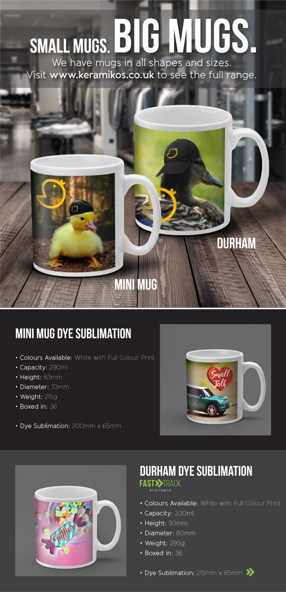Printed Promotional Small and Big Mugs E-Flyer