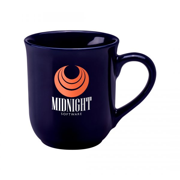 Printed Promotional Bell Mug Midnight Blue