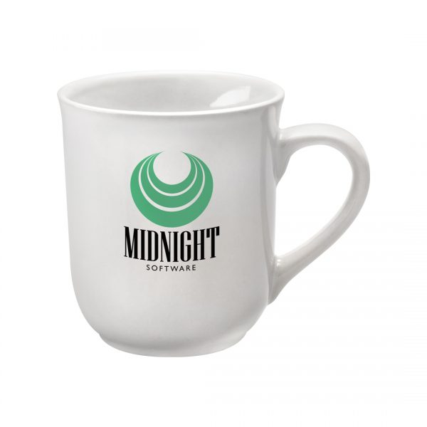 Printed Promotional Bell Mug White