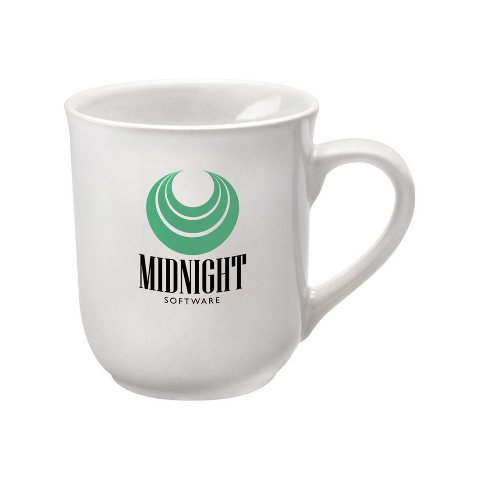 Printed Promotional Bell Mug White