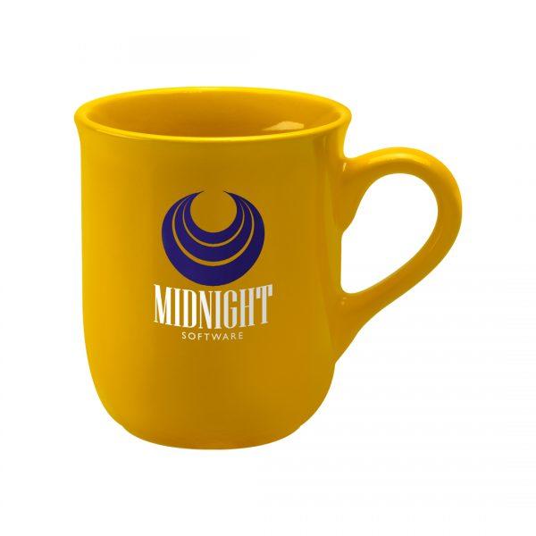 Printed Promotional Bell Mug Yellow