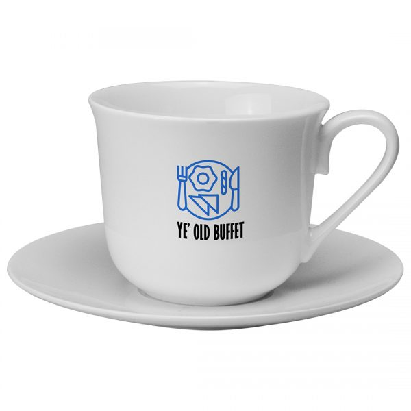 Printed Promotional Breakfast Cup and Saucer
