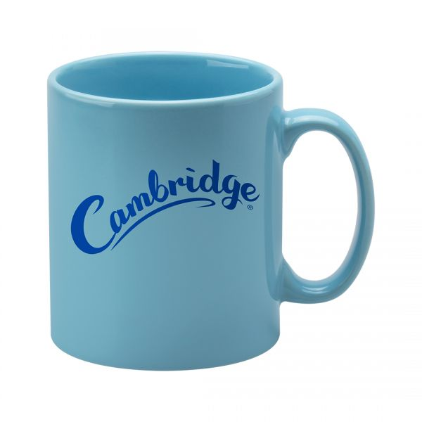 Printed Promotional Cambridge Mug Light Blue