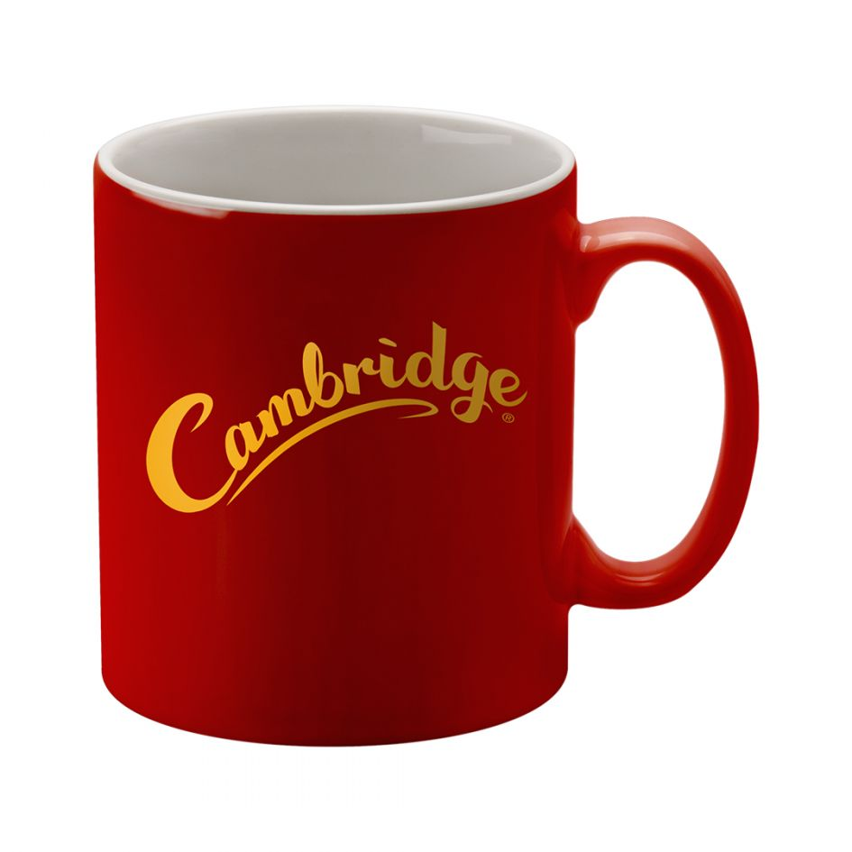Printed Promotional Cambridge Mug Red Duo