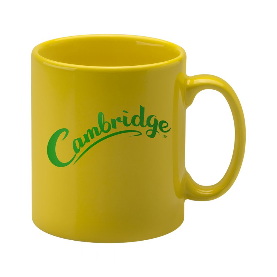 Printed Promotional Cambridge Mug Yellow