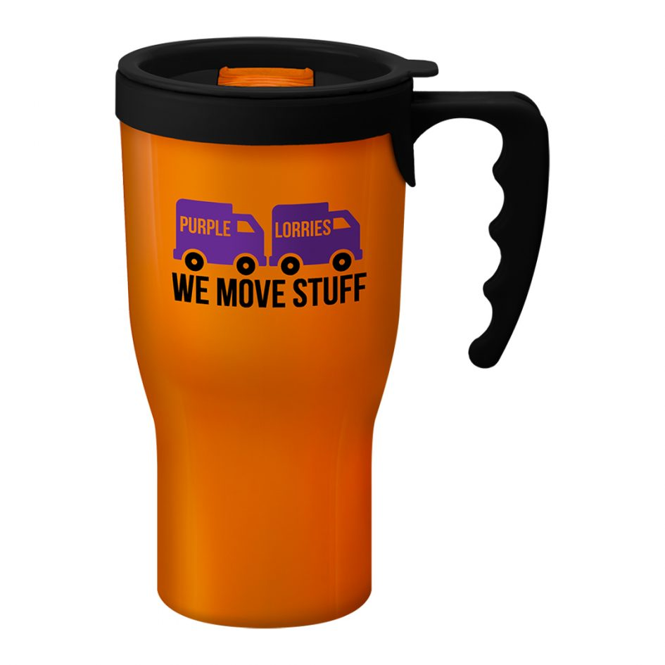 Printed Promotional Challenger Mug Orange