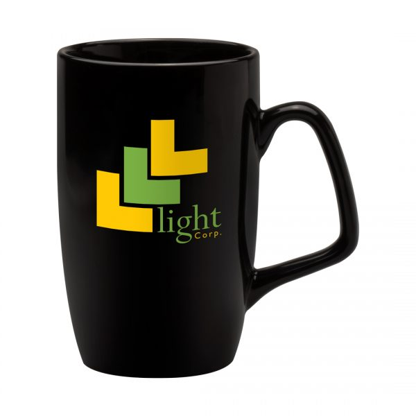Printed Promotional Corporate Mug Black