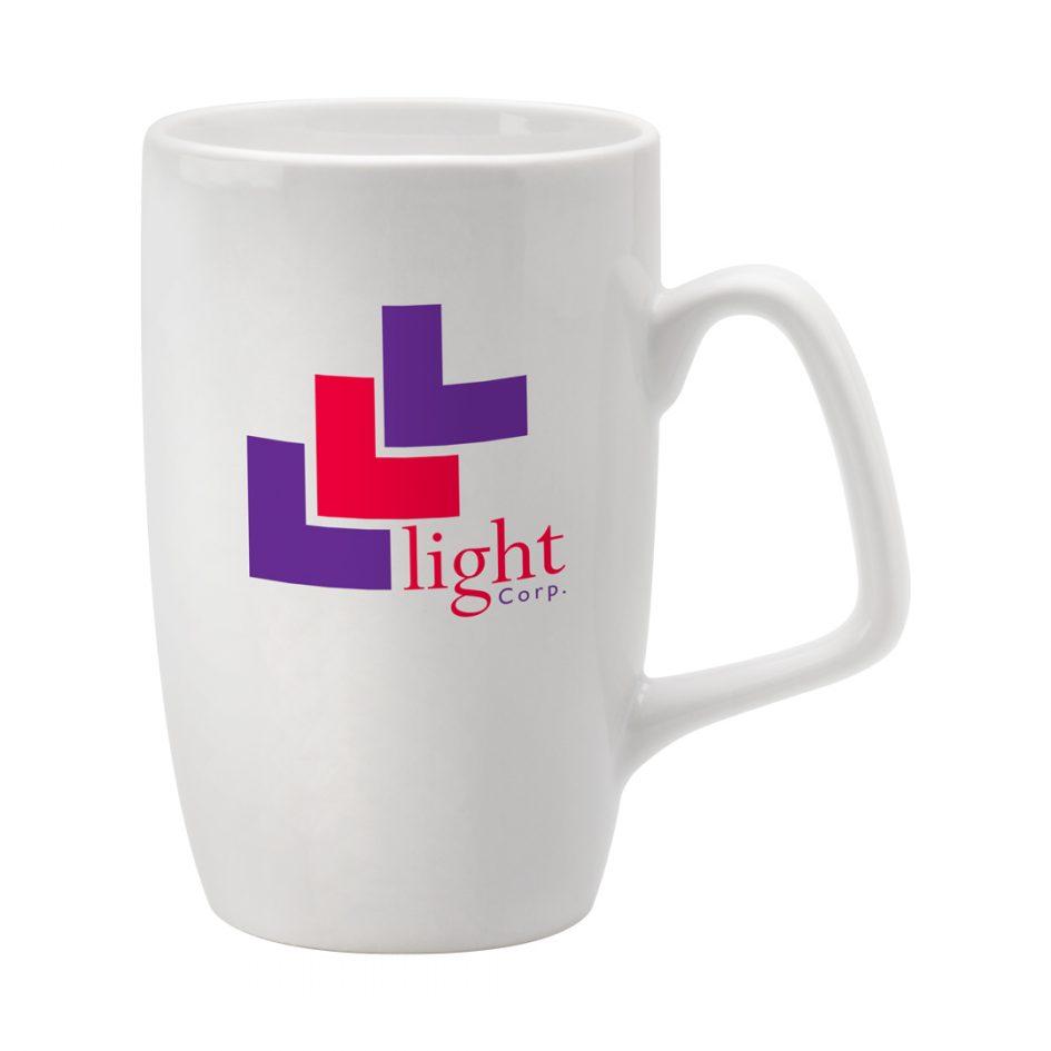 Printed Promotional Corporate Mug White