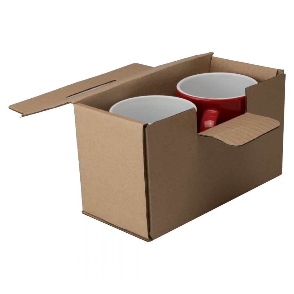 Corrugated Box for 2 Mugs