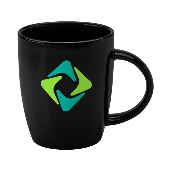Printed Promotional Darwin Mug Black