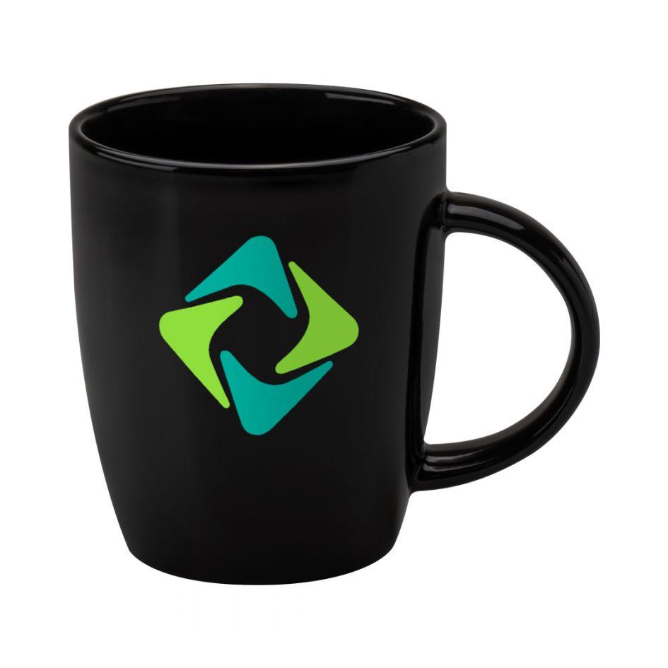 Printed Promotional Darwin Mug Black