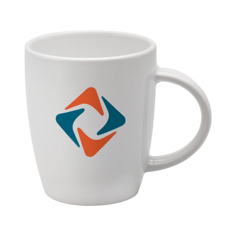 Printed Promotional Darwin Mug White