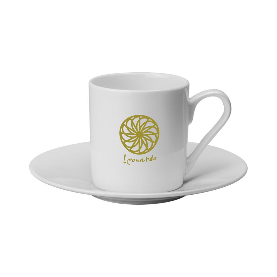 Printed Promotional Espresso Cup and Saucer