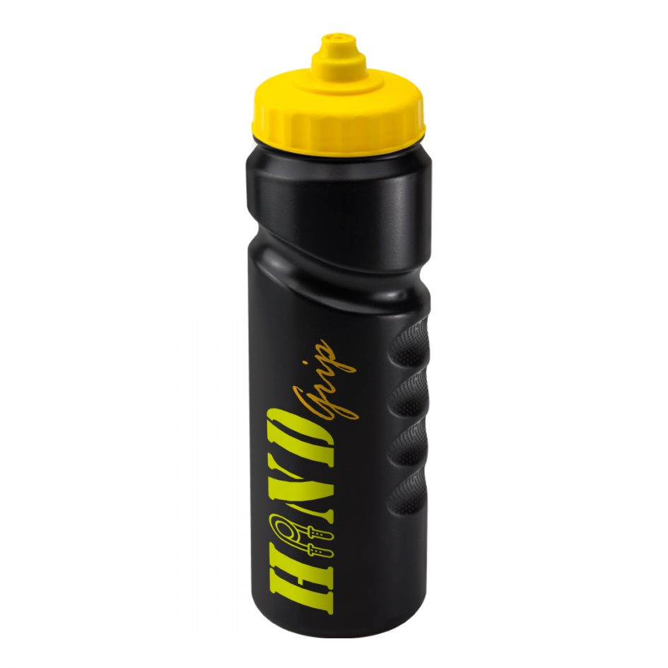 Promotional Printed 750ml Finger Grip Bottle - Black
