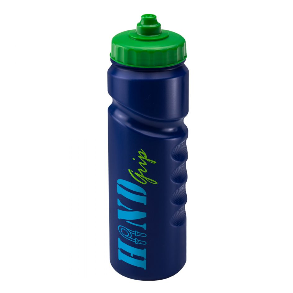 Promotional Printed 750ml Finger Grip Bottle - Blue