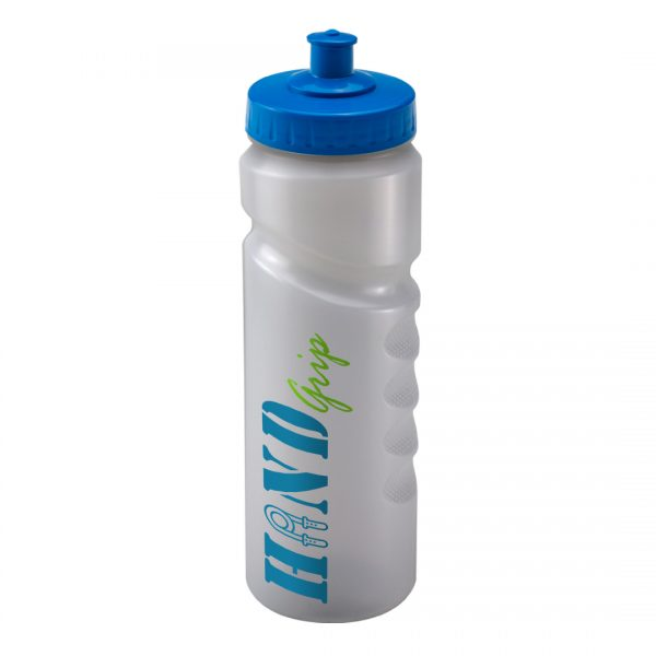 Promotional Printed 750ml Finger Grip Bottle - Clear