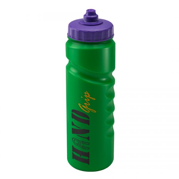 Promotional Printed 750ml Finger Grip Bottle - Green