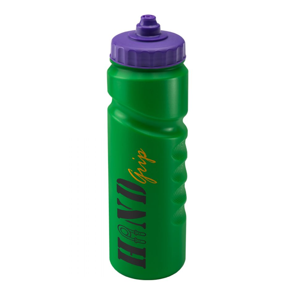 Promotional Printed 750ml Finger Grip Bottle - Green