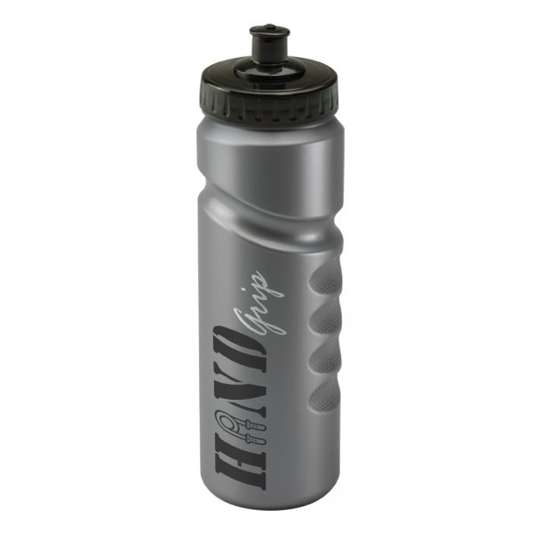 Promotional Printed 750ml Finger Grip Bottle - Silver