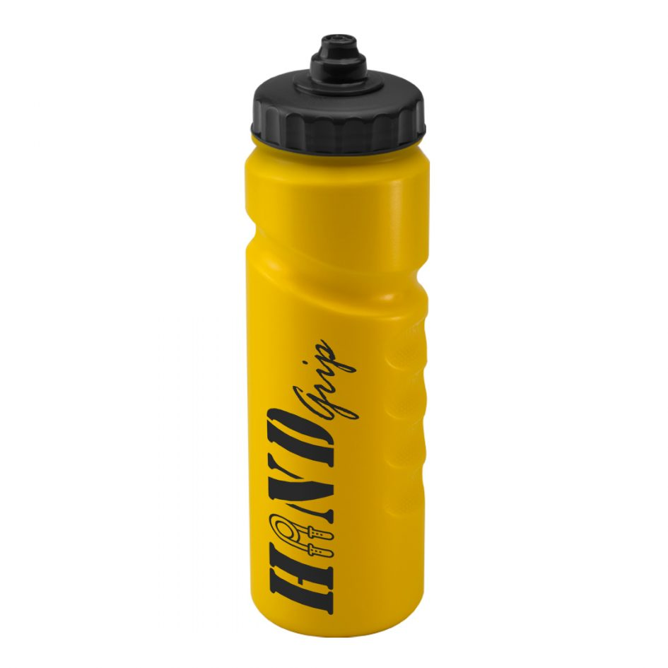 Promotional Printed 750ml Finger Grip Bottle - Yellow