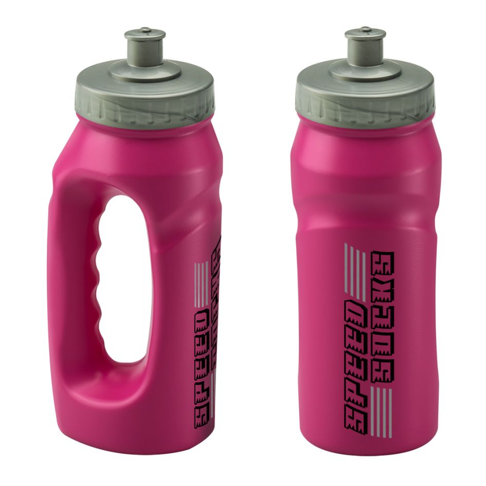 Printed Promotional Pink Jogging Bottle