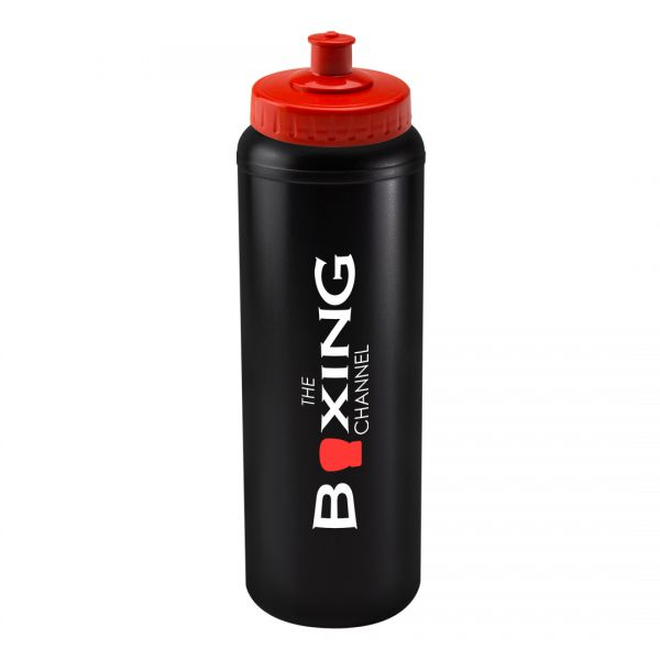 Printed Promotional Black Litre Bottle