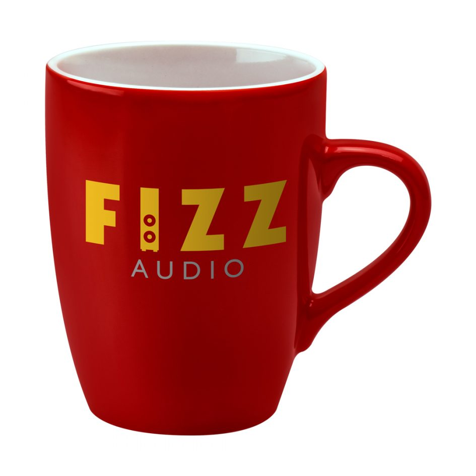 Printed Promotional Marrow Mug Red Duo