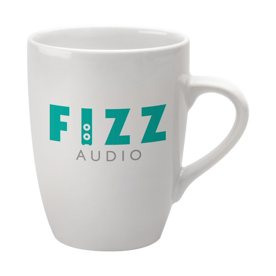 Printed Promotional Marrow Mug White