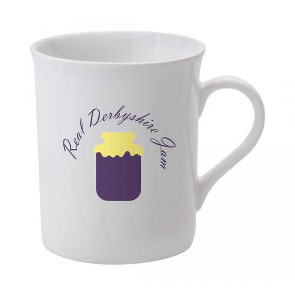 Printed Promotional Newbury Mug White