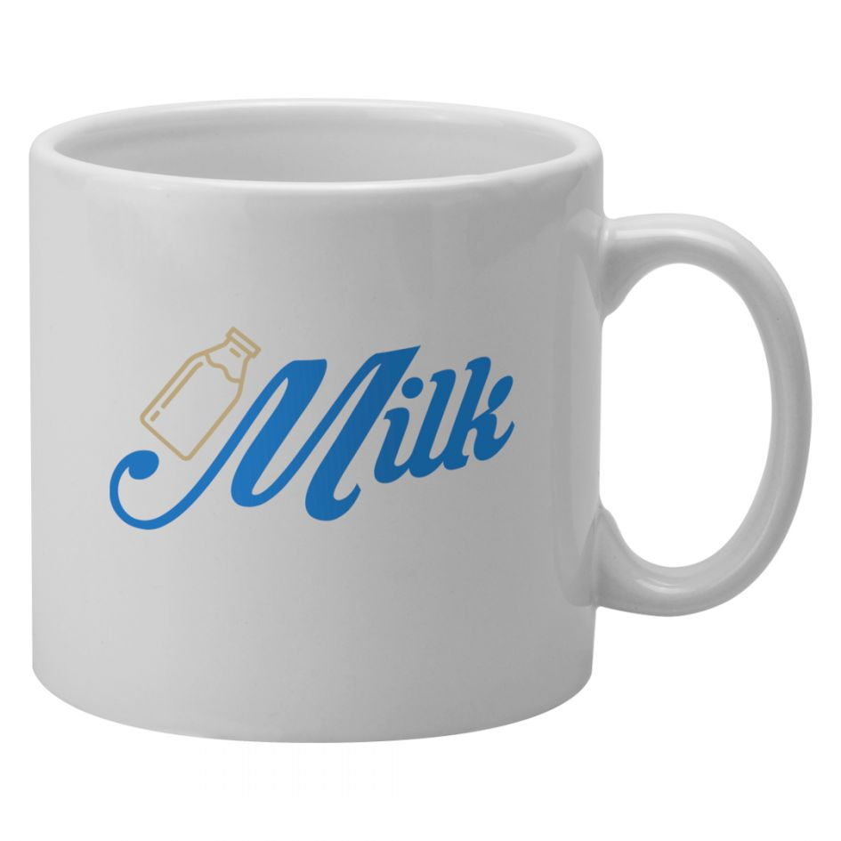 Printed Promotional Pint Mug White