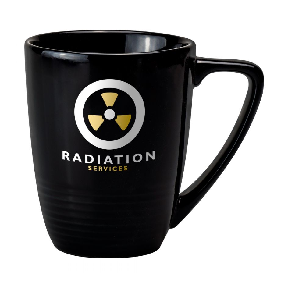 Printed Promotional Quantum Mug Black