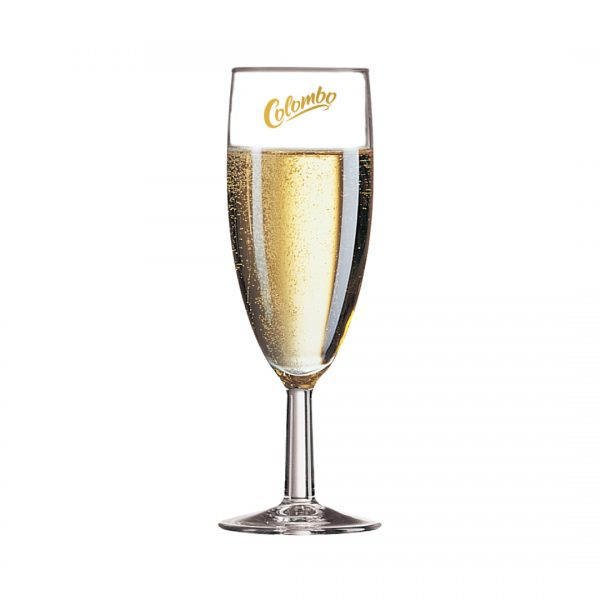 Printed Promotional Savoie Glass Champagne Flute
