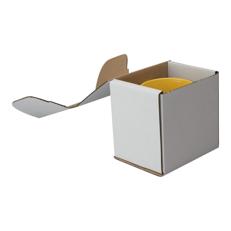 Single Card Mailer Mug Box White
