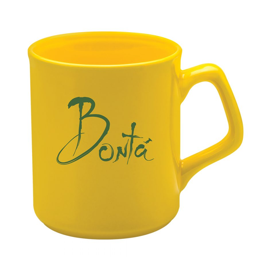 Printed Promotional Sparta Mug Yellow