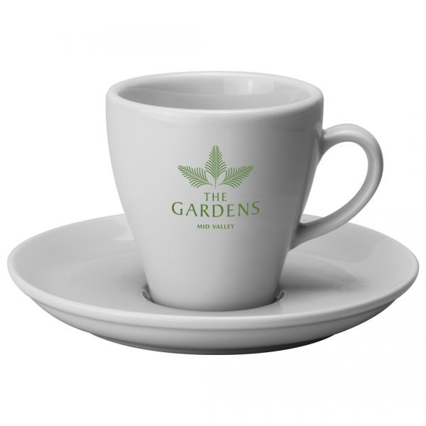 Printed Promotional Torino Cup and Saucer Large