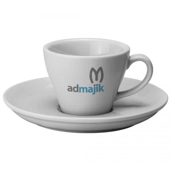 Printed Promotional Torino Cup and Saucer Medium