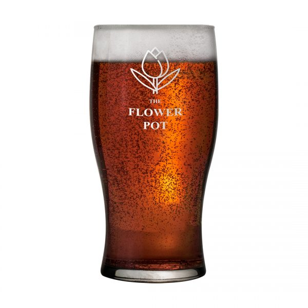 Printed Promotional Tulip Pint Glass