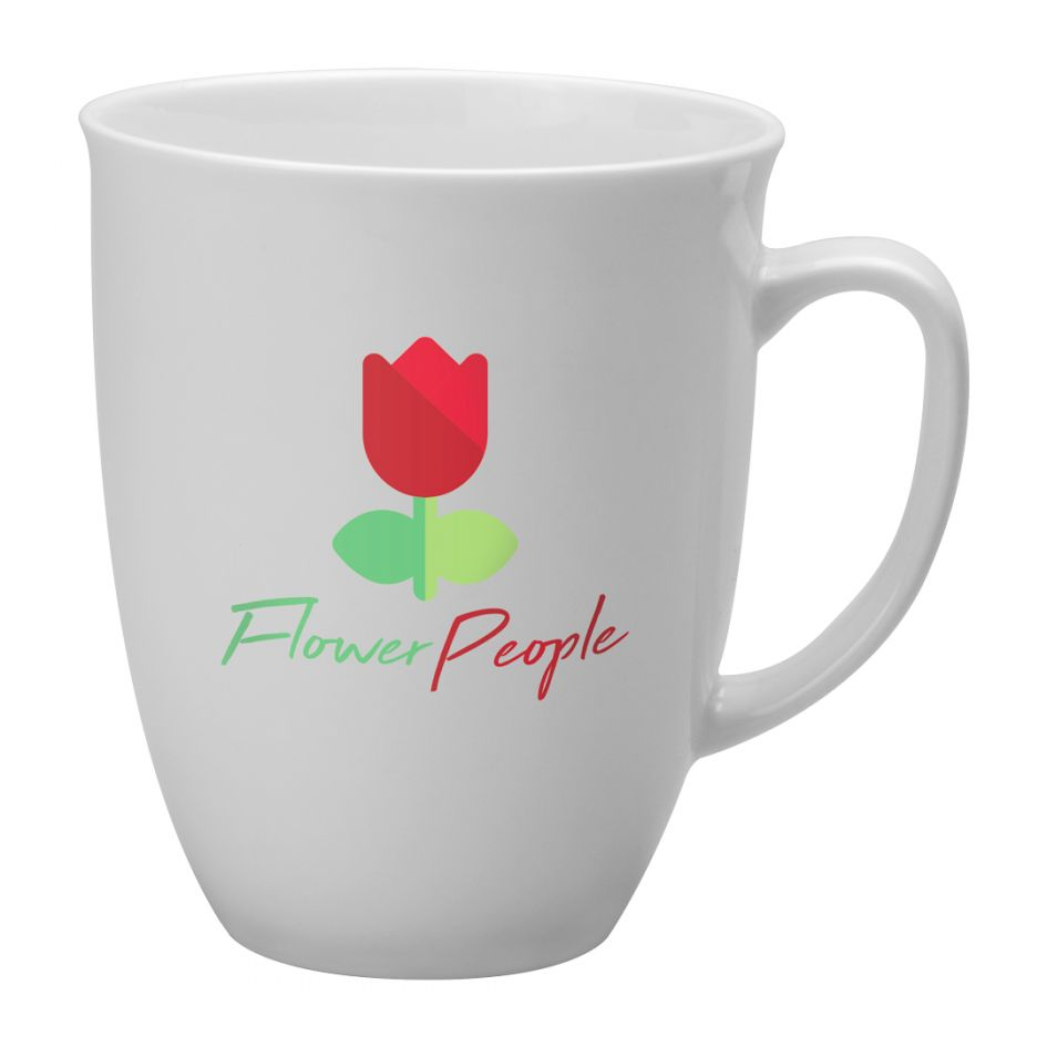 Printed Promotional Tulip Mug White