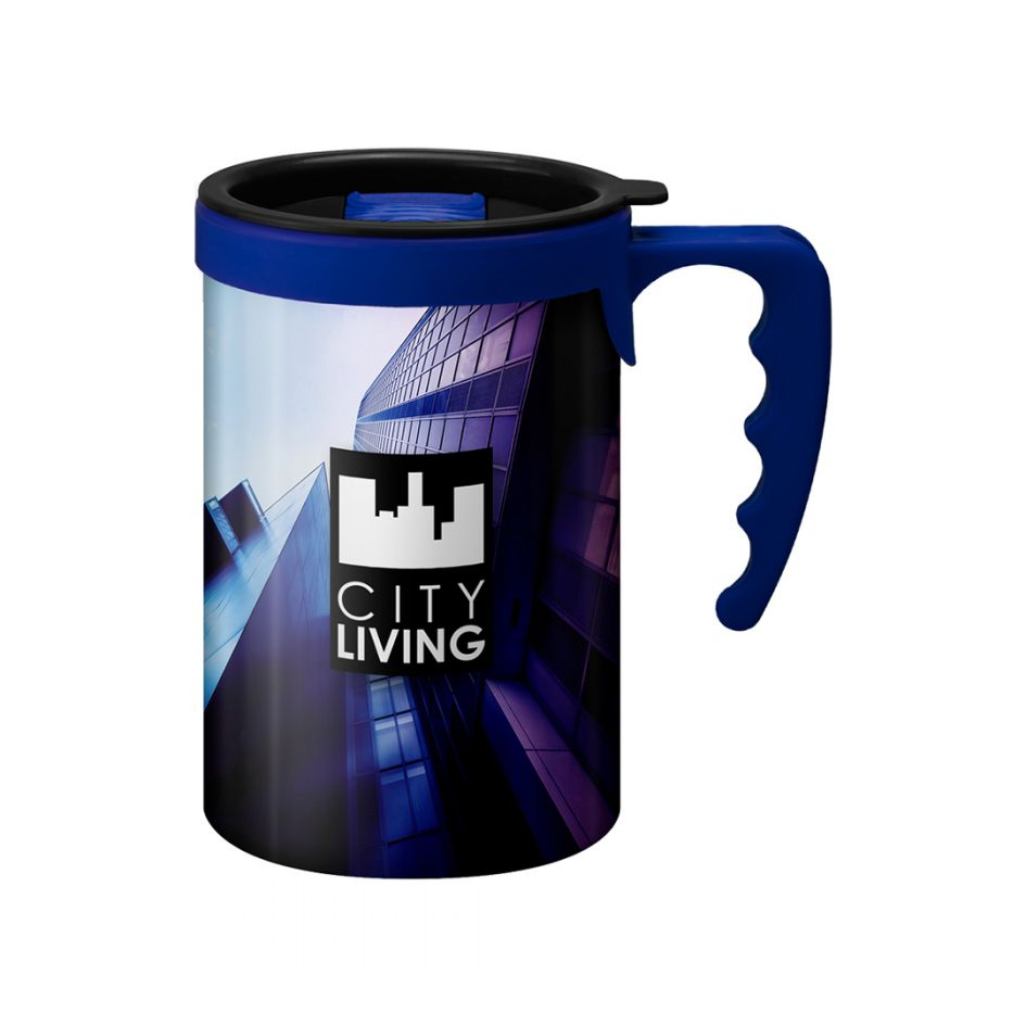 Printed Promotional Apollo with Blue Handle