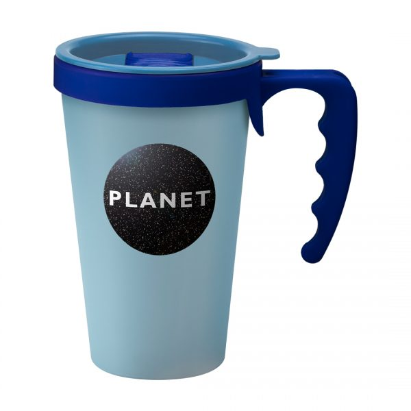Printed Promotional Universal Mug Light Blue