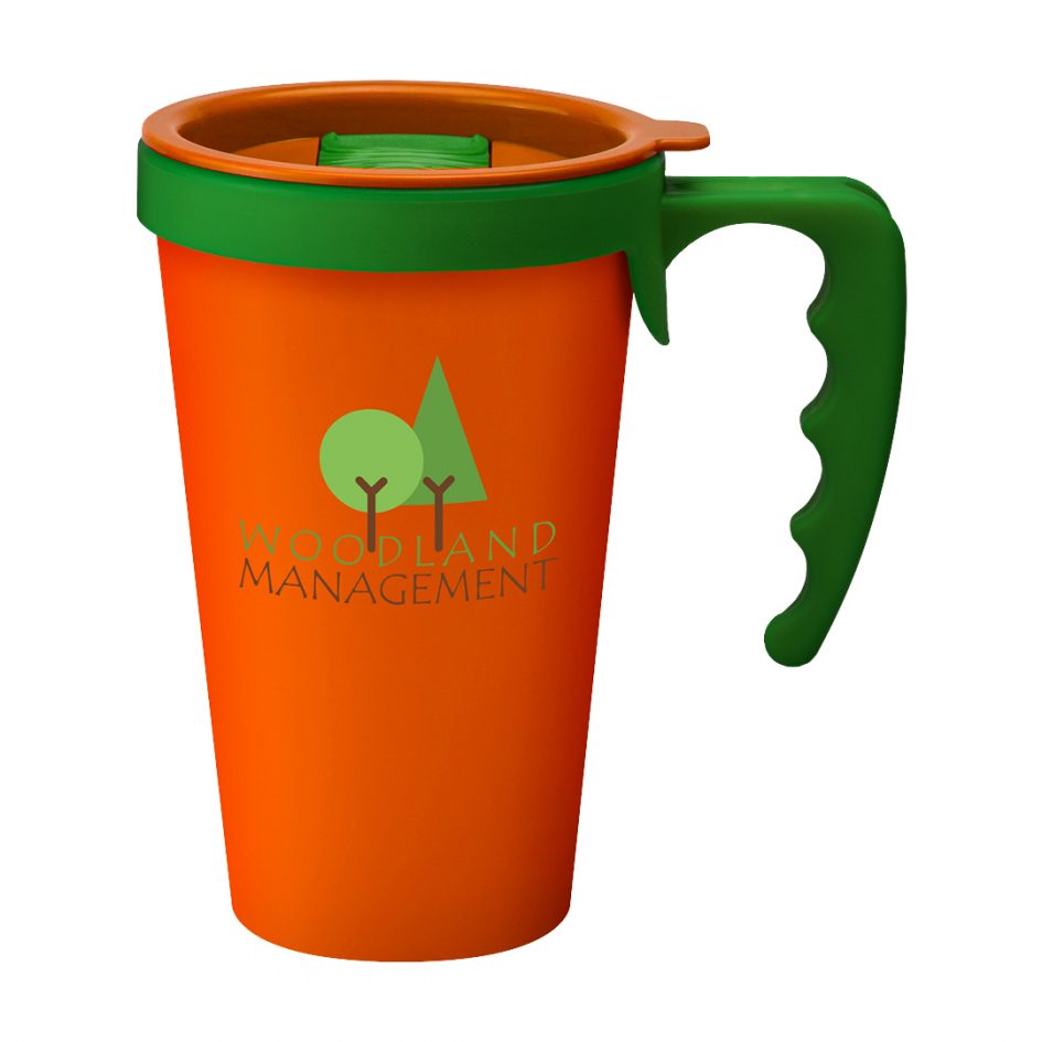 Printed Promotional Universal Mug Orange